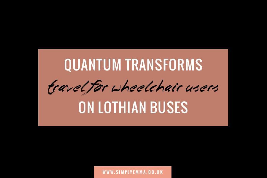 Quantum wheelchair securement on Lothian Buses