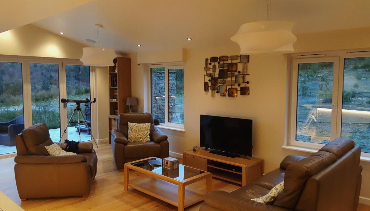 Accessible Holidays with Calvert Trust Kielder The Bradbury Chalet living area