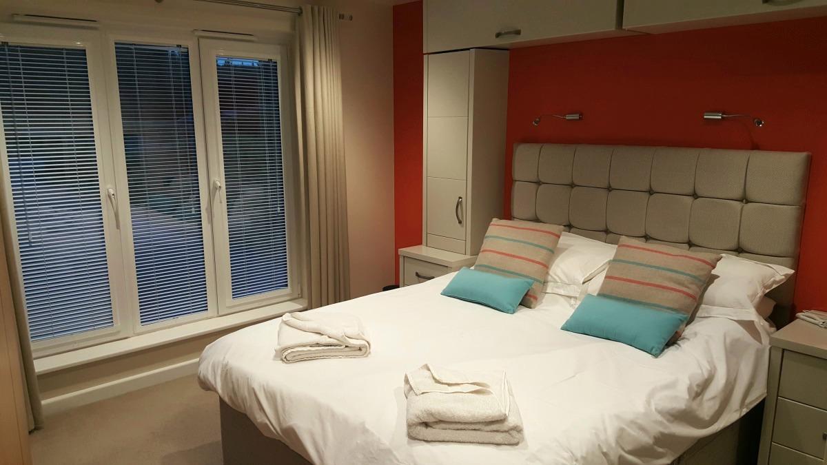 Calvert Trust Kielder The Bradbury master bedroom suite
