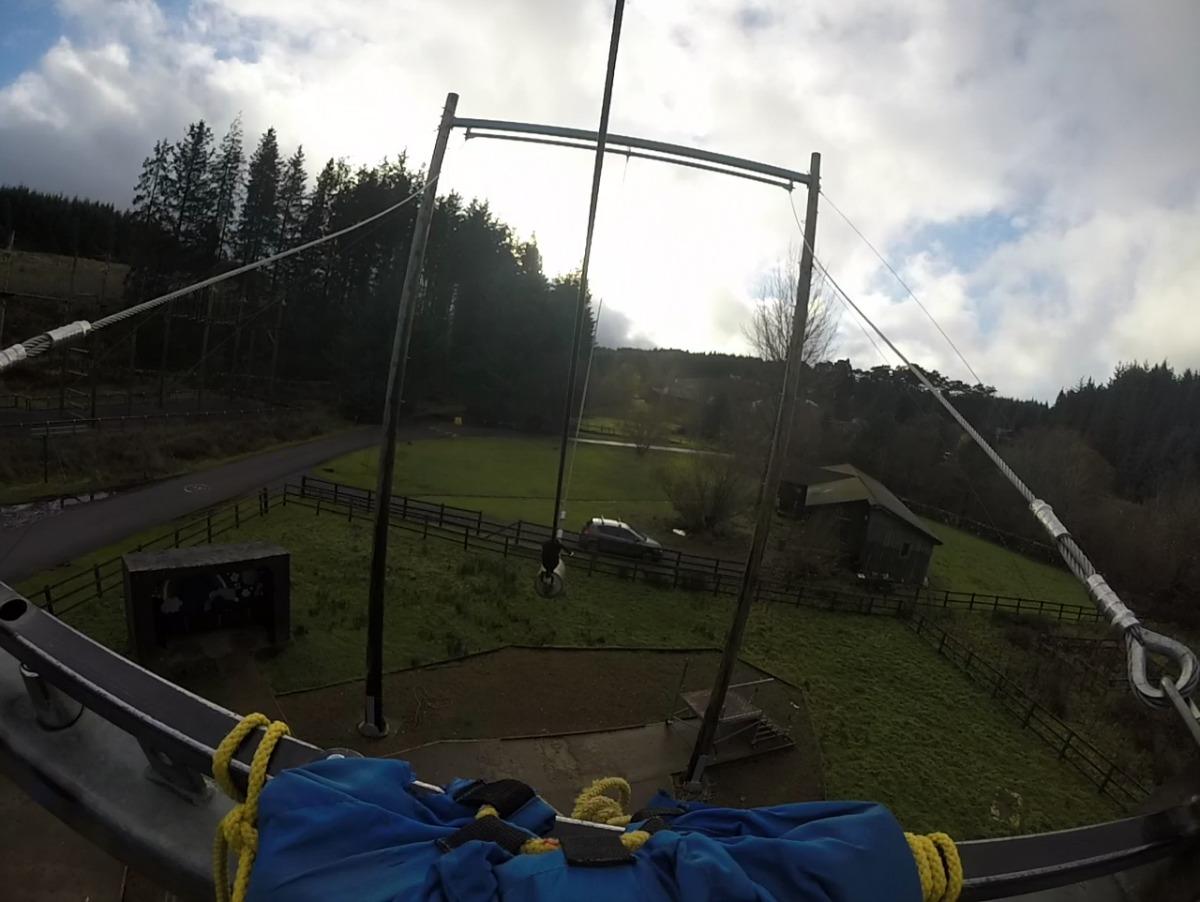 View from top of King Swing Calvert Trust Kielder