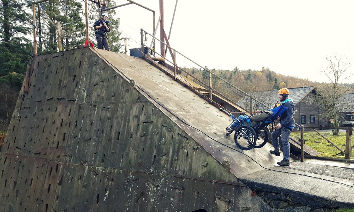 calvert trust kielder wheelchair abseil descent