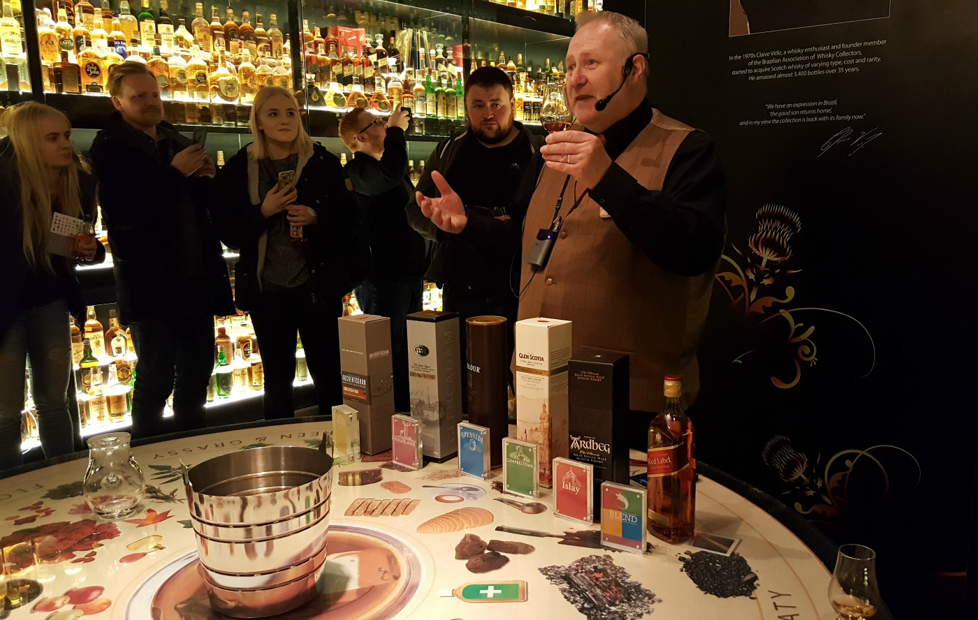 The Scotch Whisky Experience tour guide