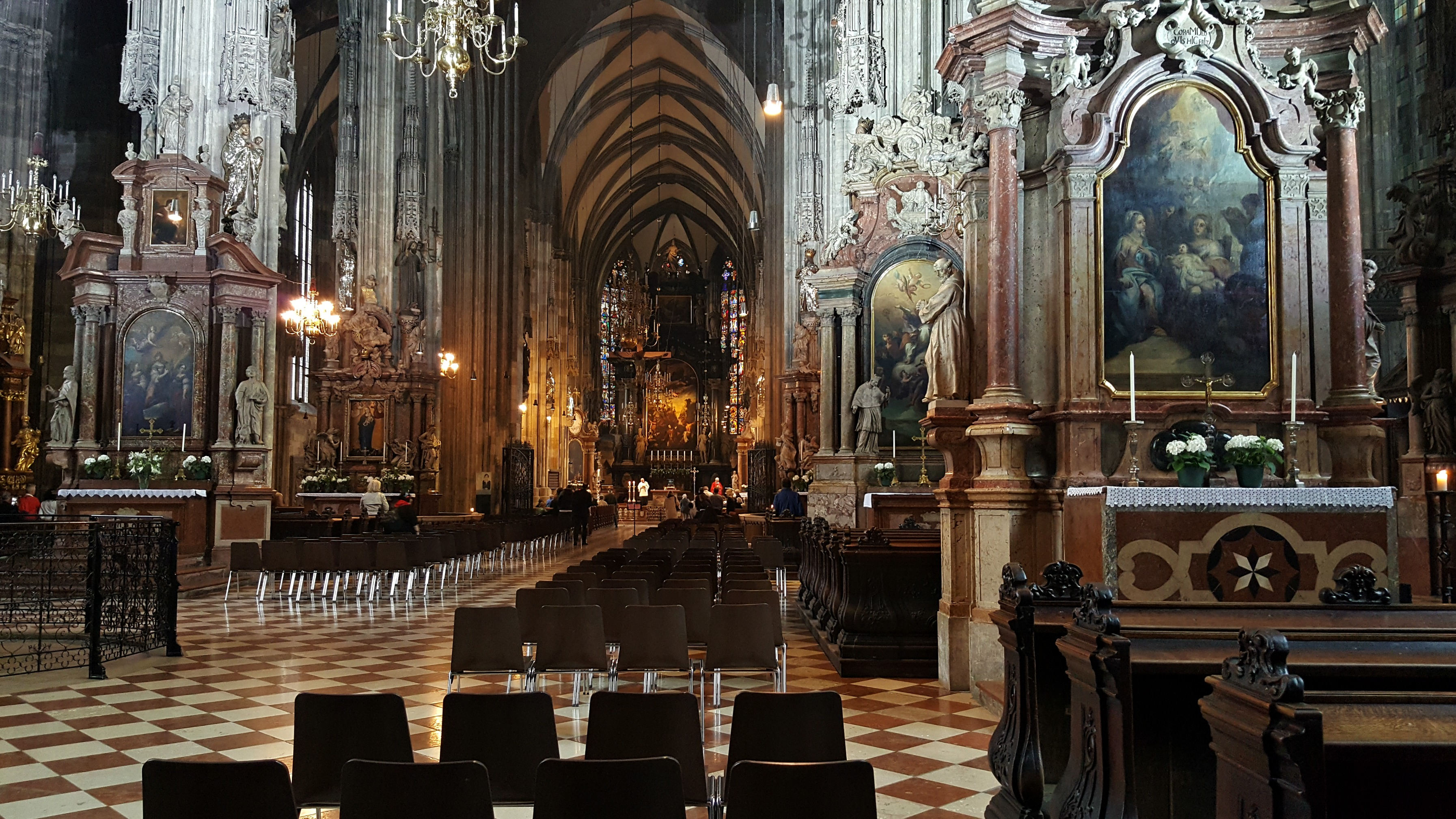 inside St Stephens Cathedral Vienna