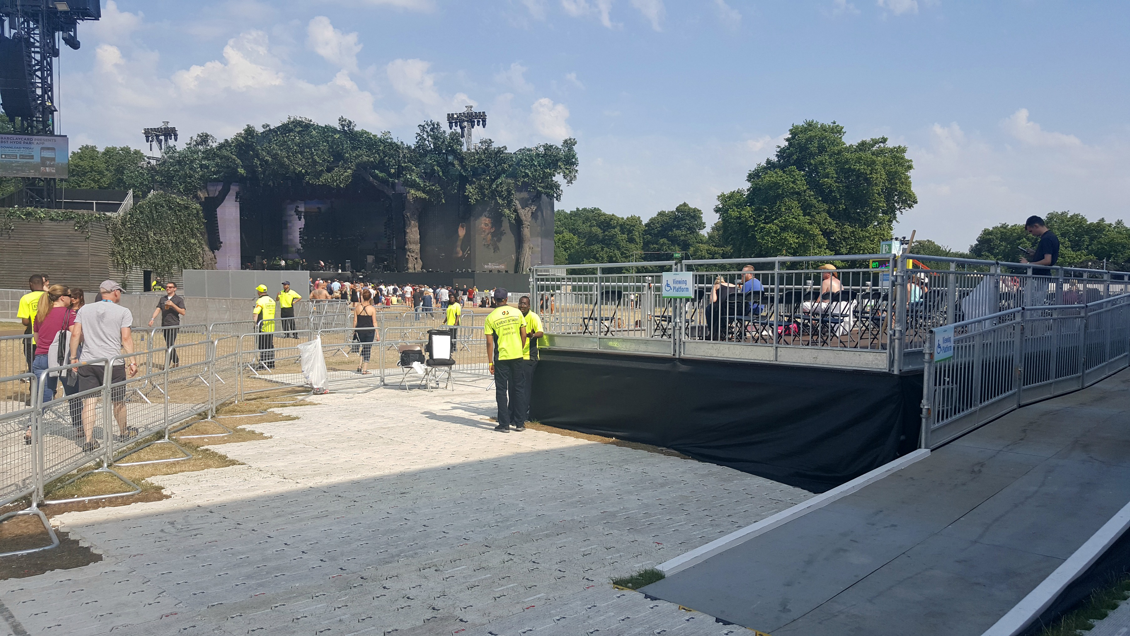 BST Hyde Park viewing platform The Great Oak Stage