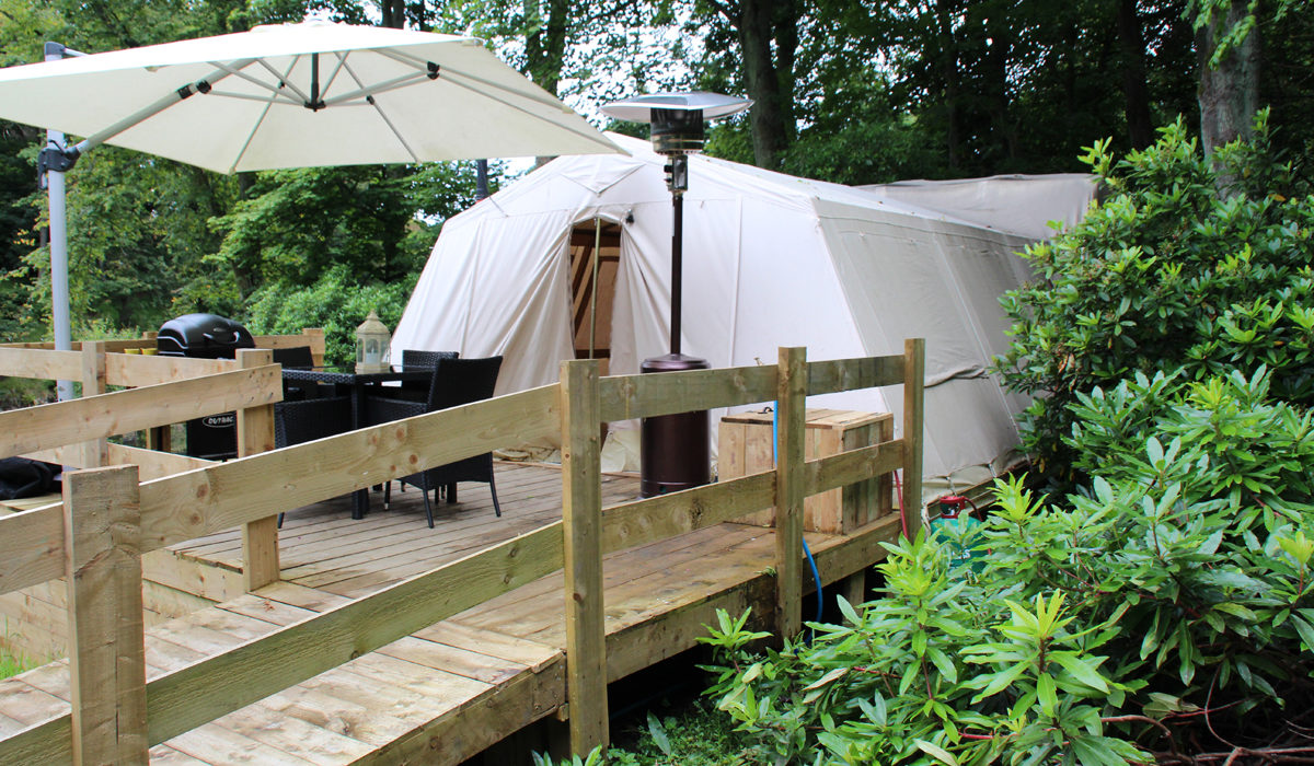 Glampotel Dundas Castle: Is Glamping really wheelchair accessible?