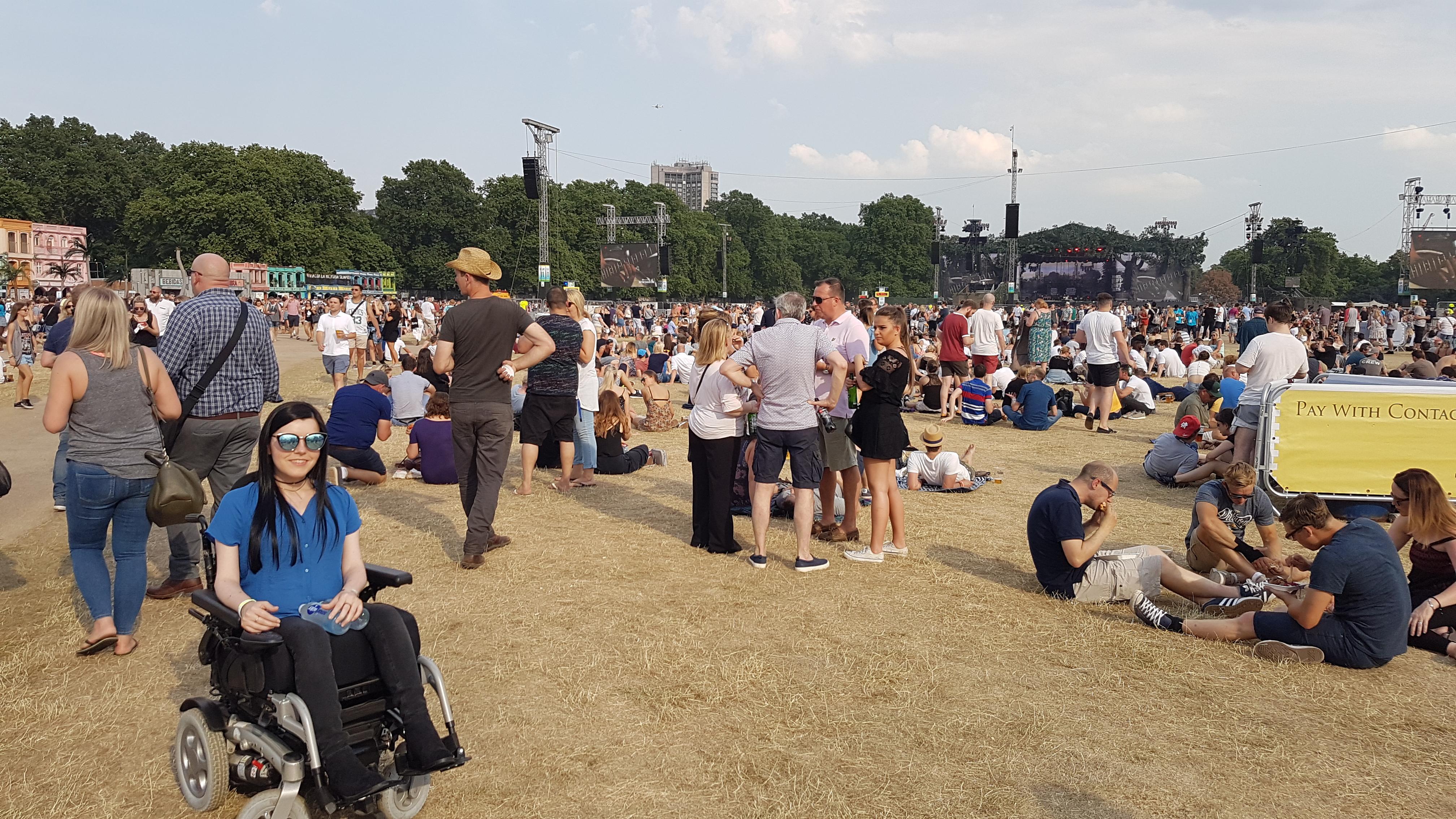 london-photo-diary BST Hyde Park 2017 wheelchair access