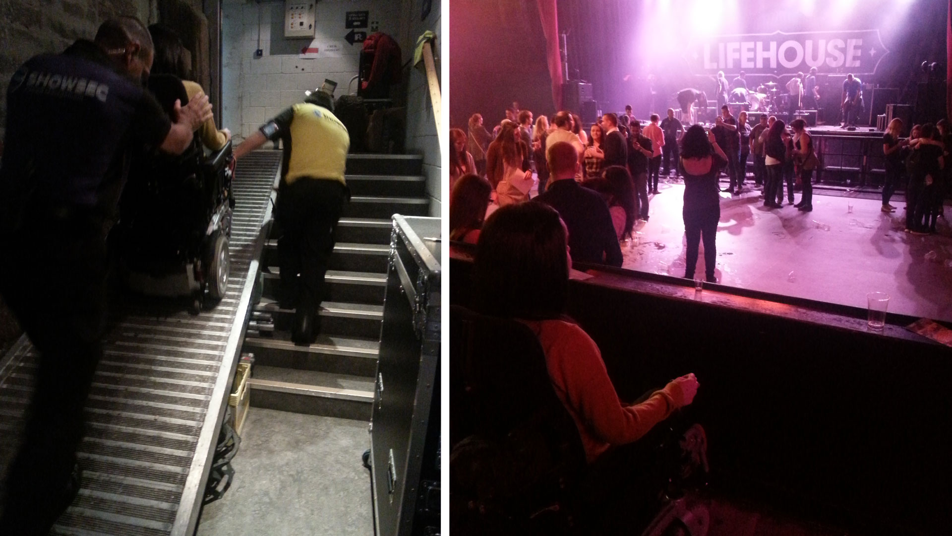 Wheelchair Access and viewing platform at O2 ABC Glasgow