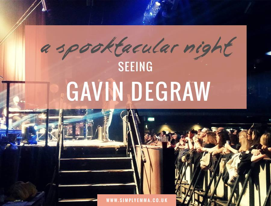 A Spooktacular Night Seeing Gavin DeGraw