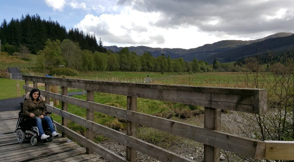 Accessible Scottish Walks Strathyre wooden bridge
