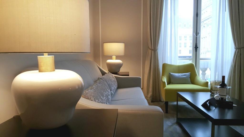Hilton Paris Opera - suite-living area Wheelchair Access Review