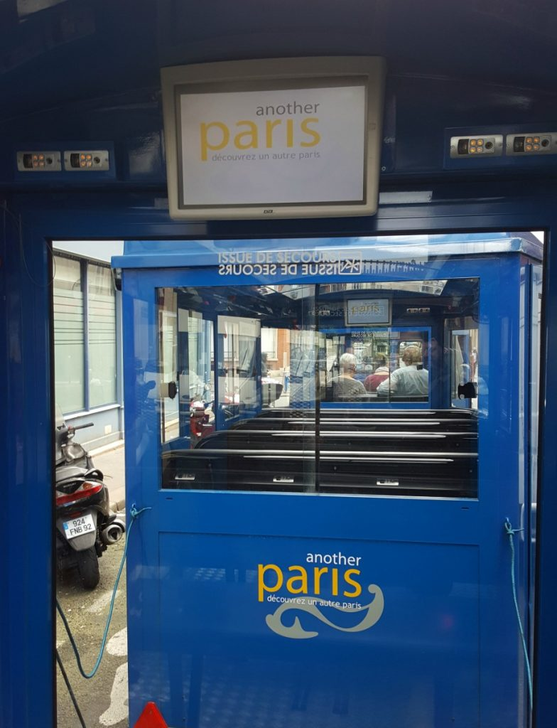 another paris wheelchair accessible train tour screens and subtitles