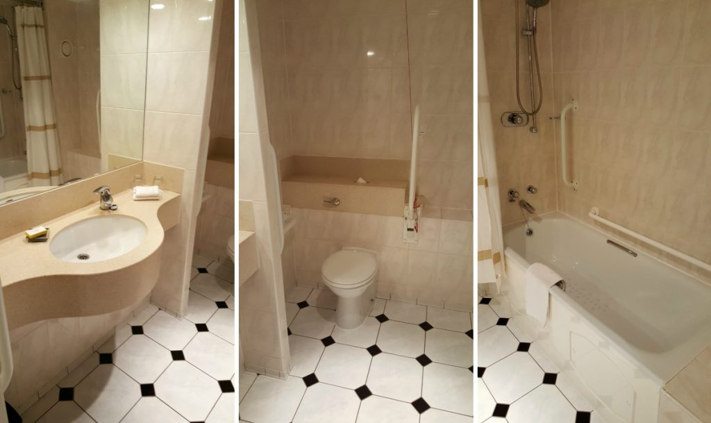 Liverpool Marriott Wheelchair Accessible bathroom