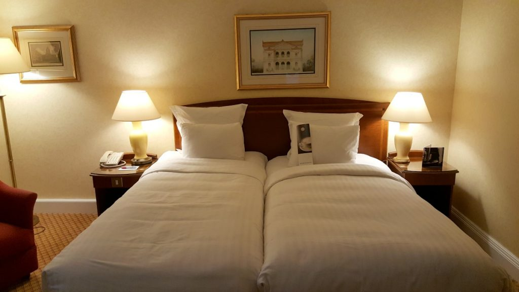 Liverpool Marriott Wheelchair Accessible room bed