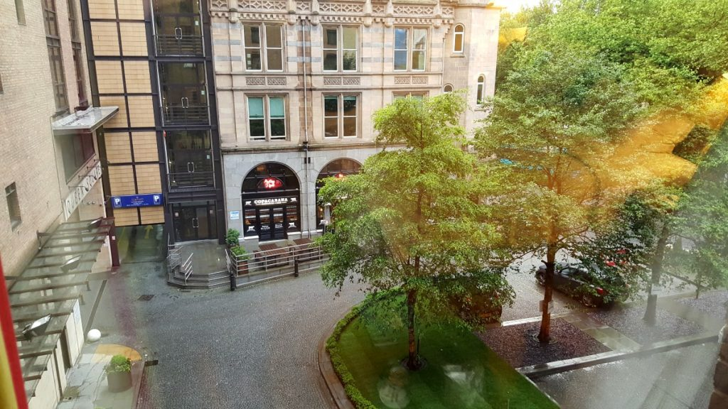 Liverpool Marriott Wheelchair Accessible room view from window