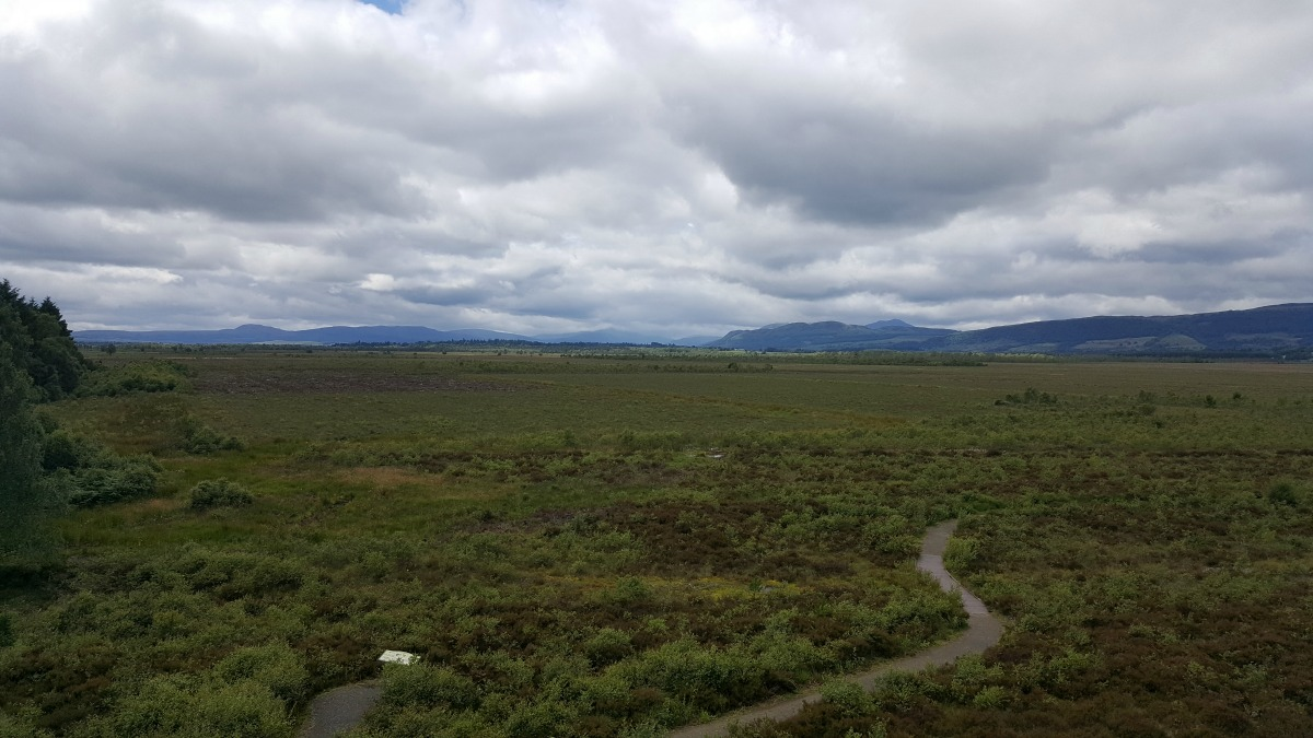 Accessible Scottish Walks Flanders Moss National Nature Reserve View from tower