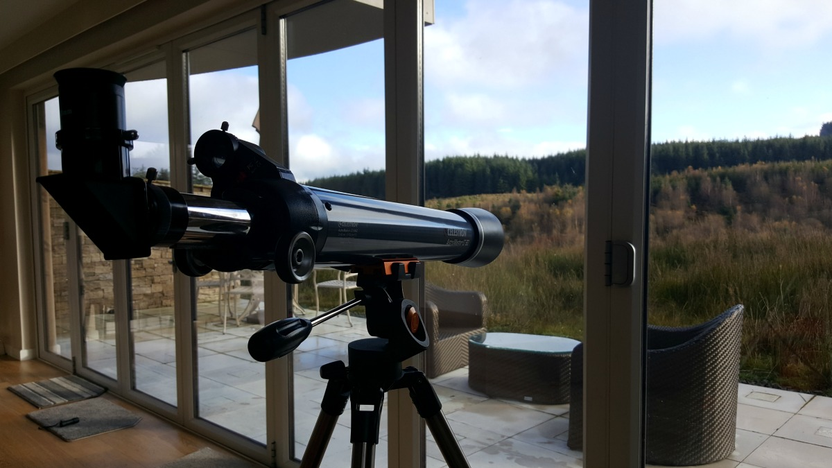 Accessible Holidays with Calvert Trust Kielder The Bradbury Chalet telescope view