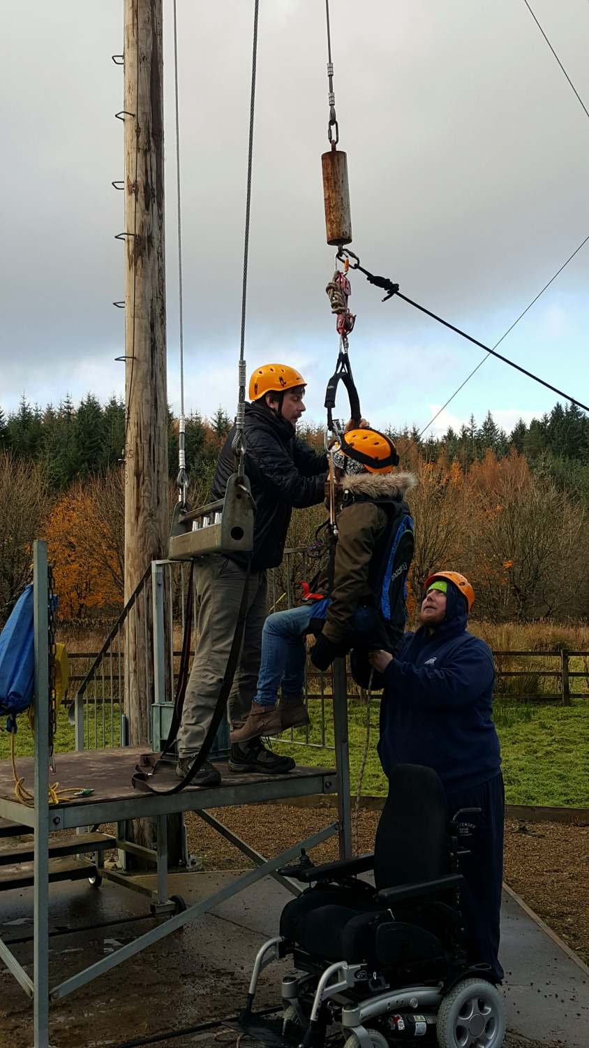 Calvert Trust Kielder Accessible King Swing Wheelchair User