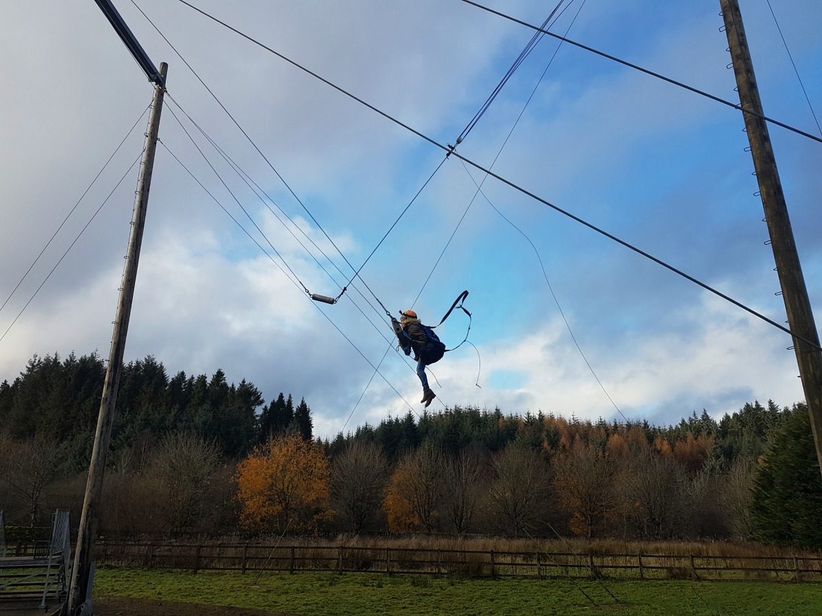 Calvert Trust Kielder King Swing Action Shot