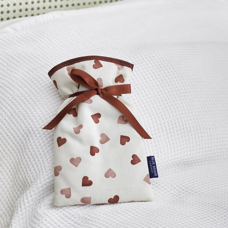 Emma Bridgewater Hearts mini hot water bottle and padded cover