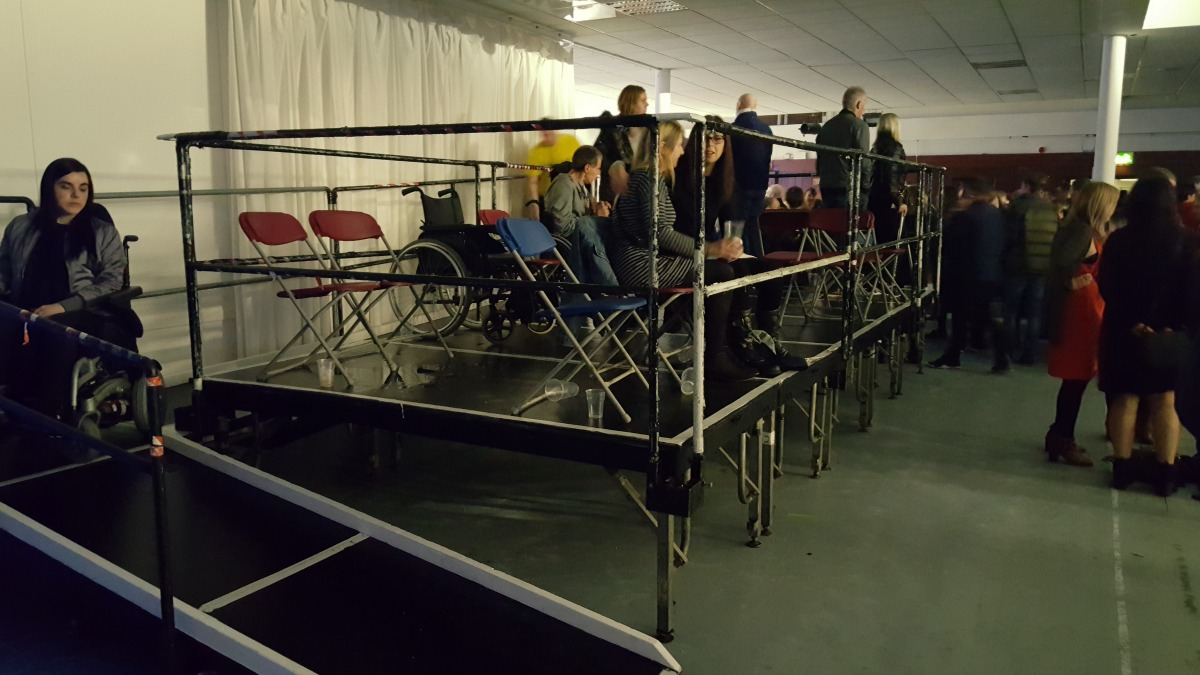 The Edinburgh Corn Exchange viewing platform ramp access