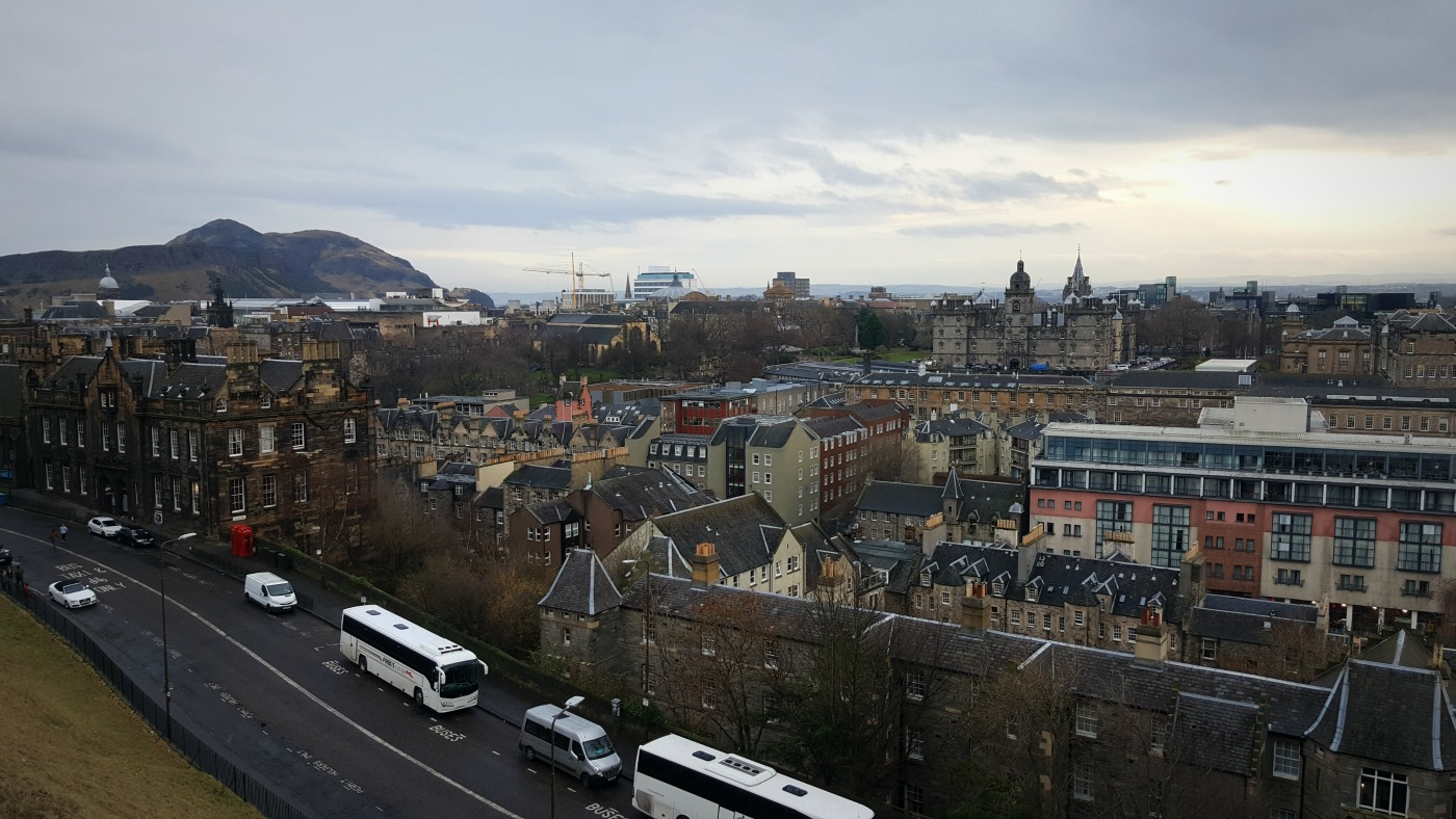 esplanade view from edinburgh castle