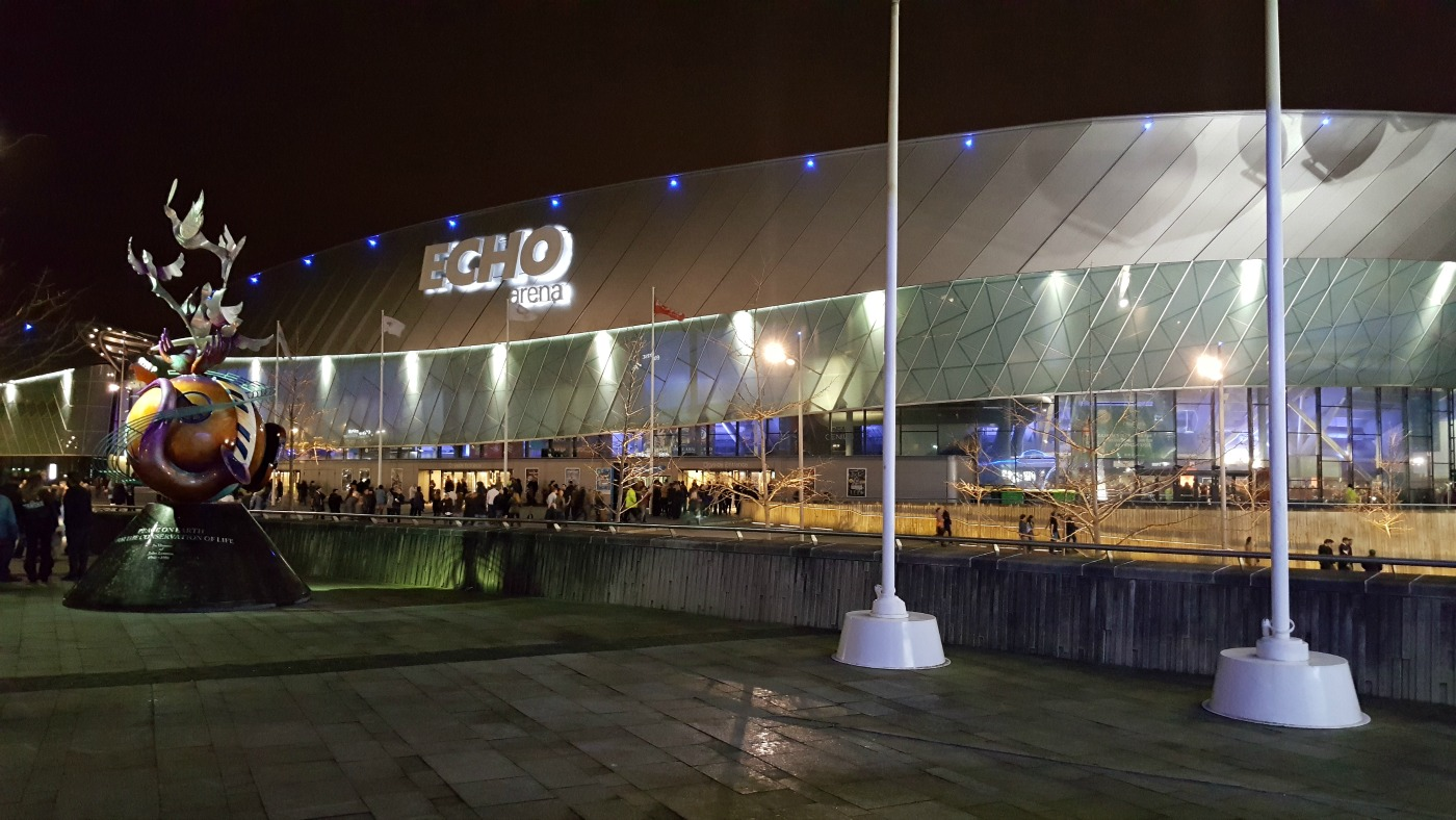 M&S Bank Arena Liverpool exterior shot