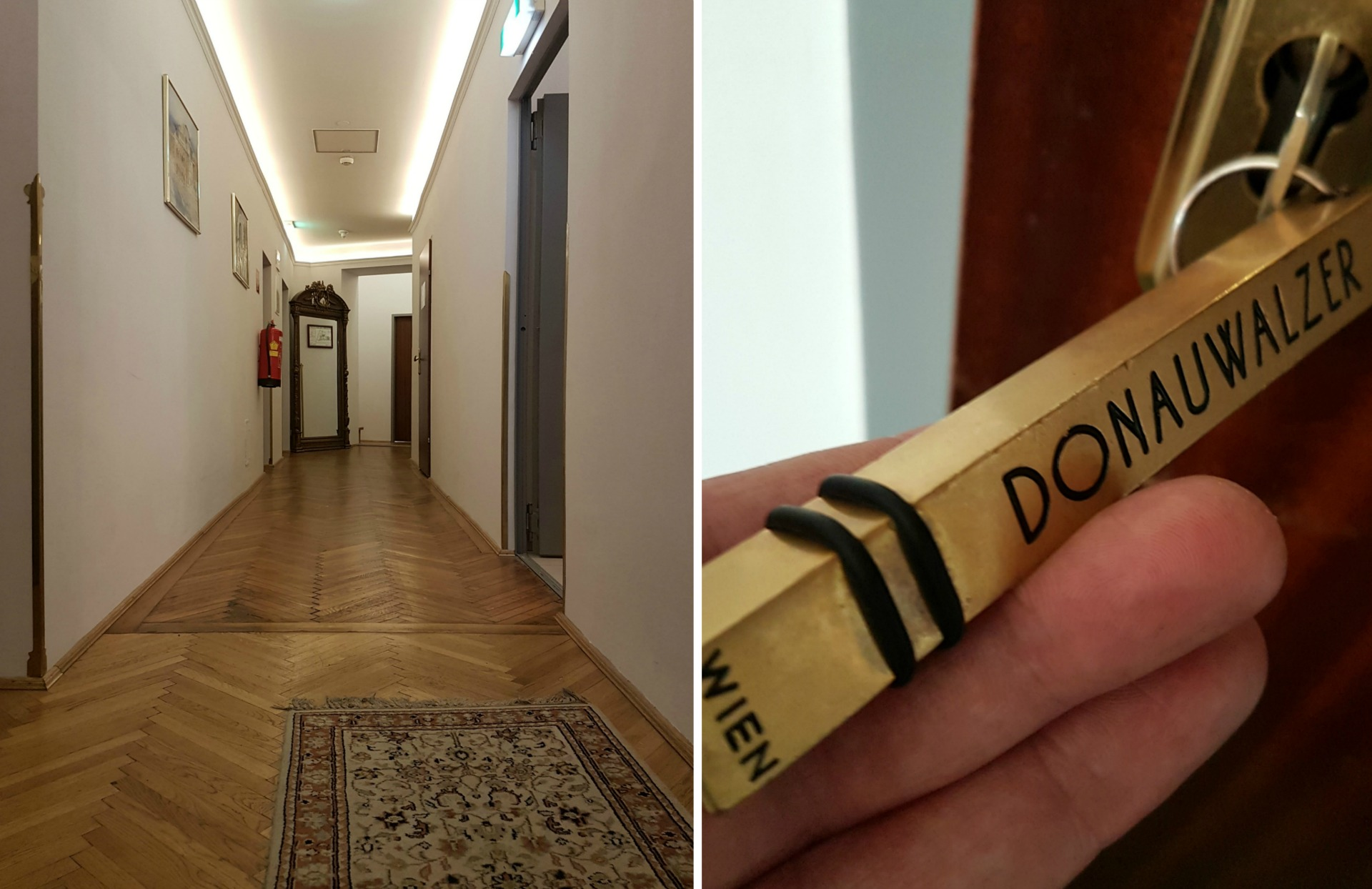 Boutique Hotel Donauwalzer_hallway_orginal_flooring_roomkey
