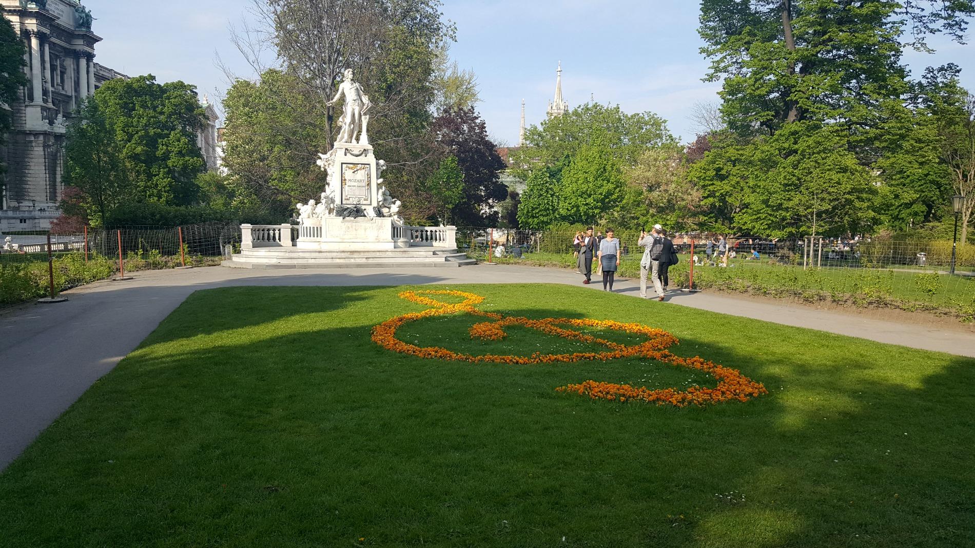 Burrgarten Park Vienna Mozart Statue