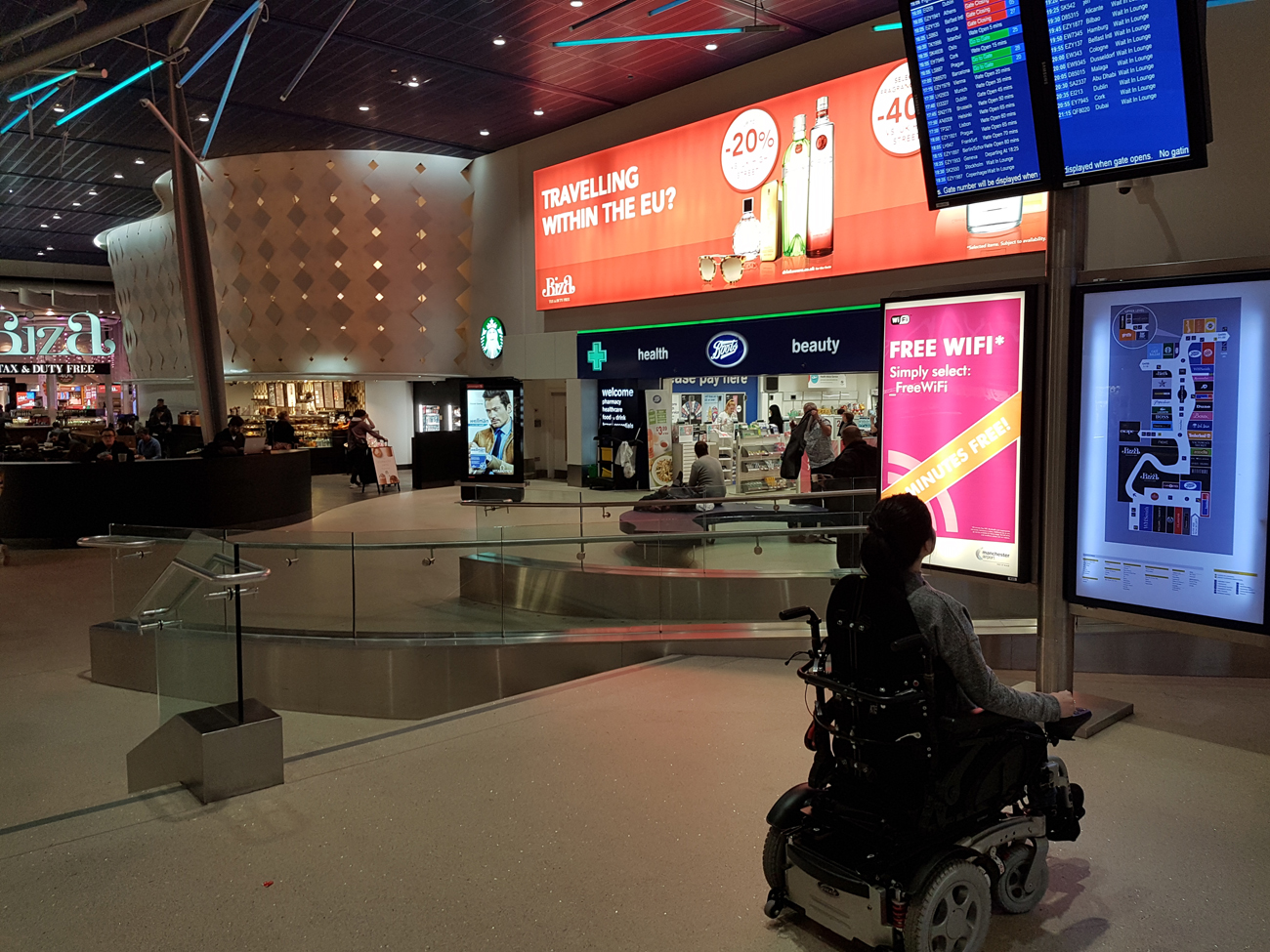 Vienna Photo Diary Manchester Airport wheelchair user