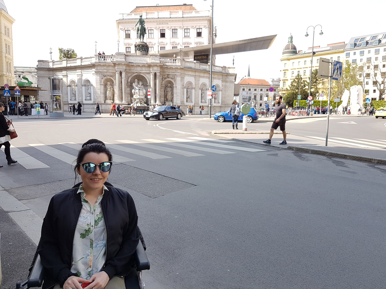 Vienna Photo Diary SimplyEmma outside the Albertina