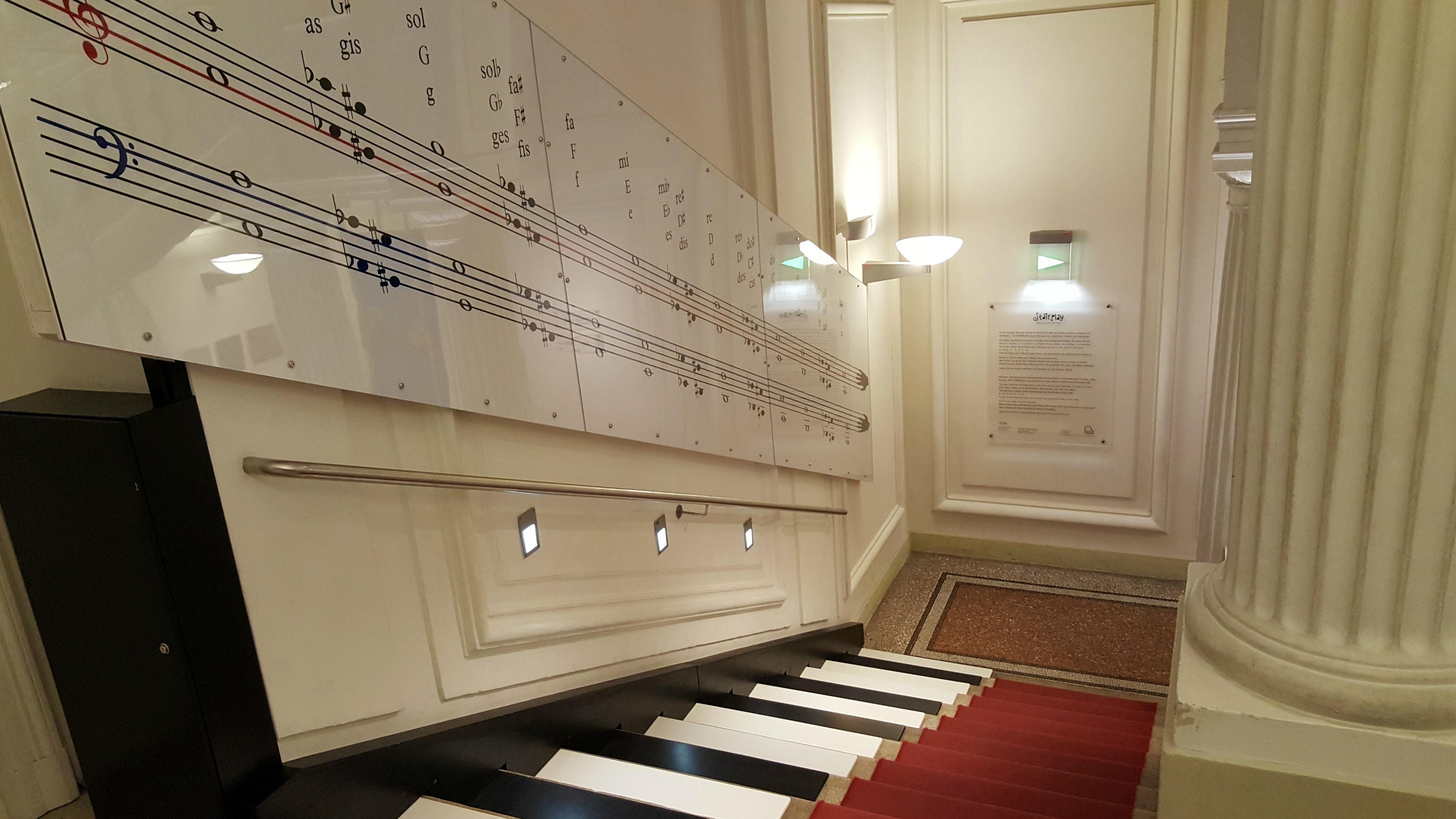 haus der musik wien piano stairs
