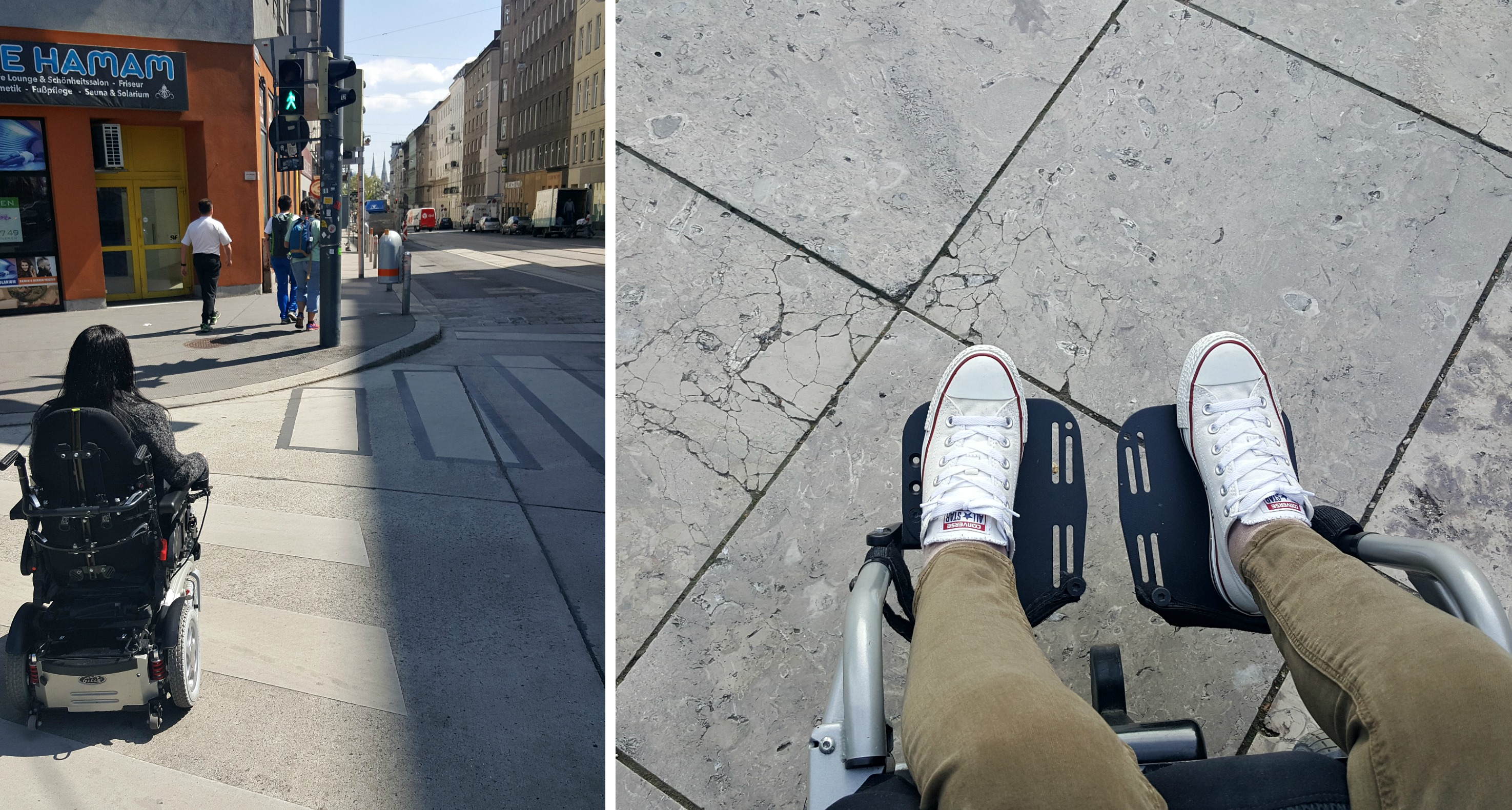 wheelchair accessible streets vienna