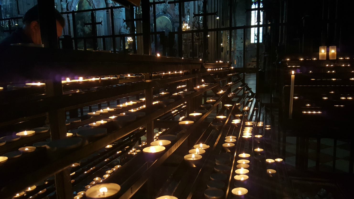Vienna Photo Diary St Stephens Cathedral candles