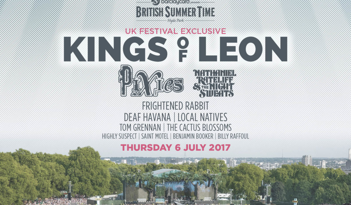 BST Hyde Park 2017 Kings of Leon lineup