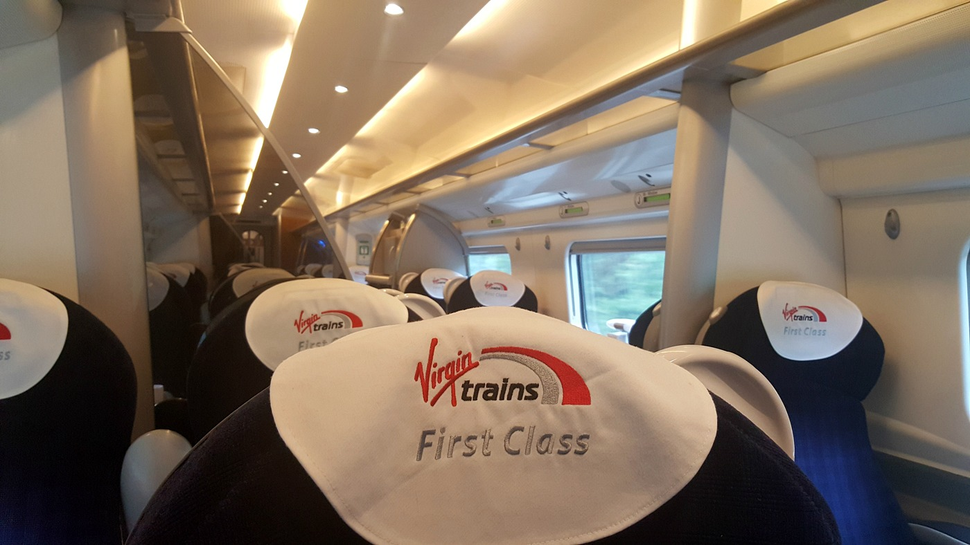 Virgin Trains first class carriage J wheelchair access review