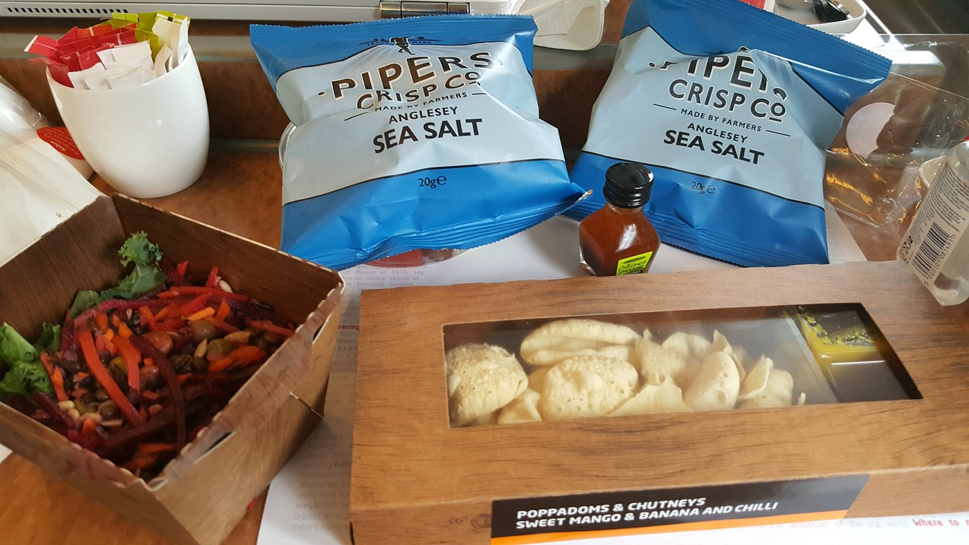 Virgin Trains first class menu vegan food options
