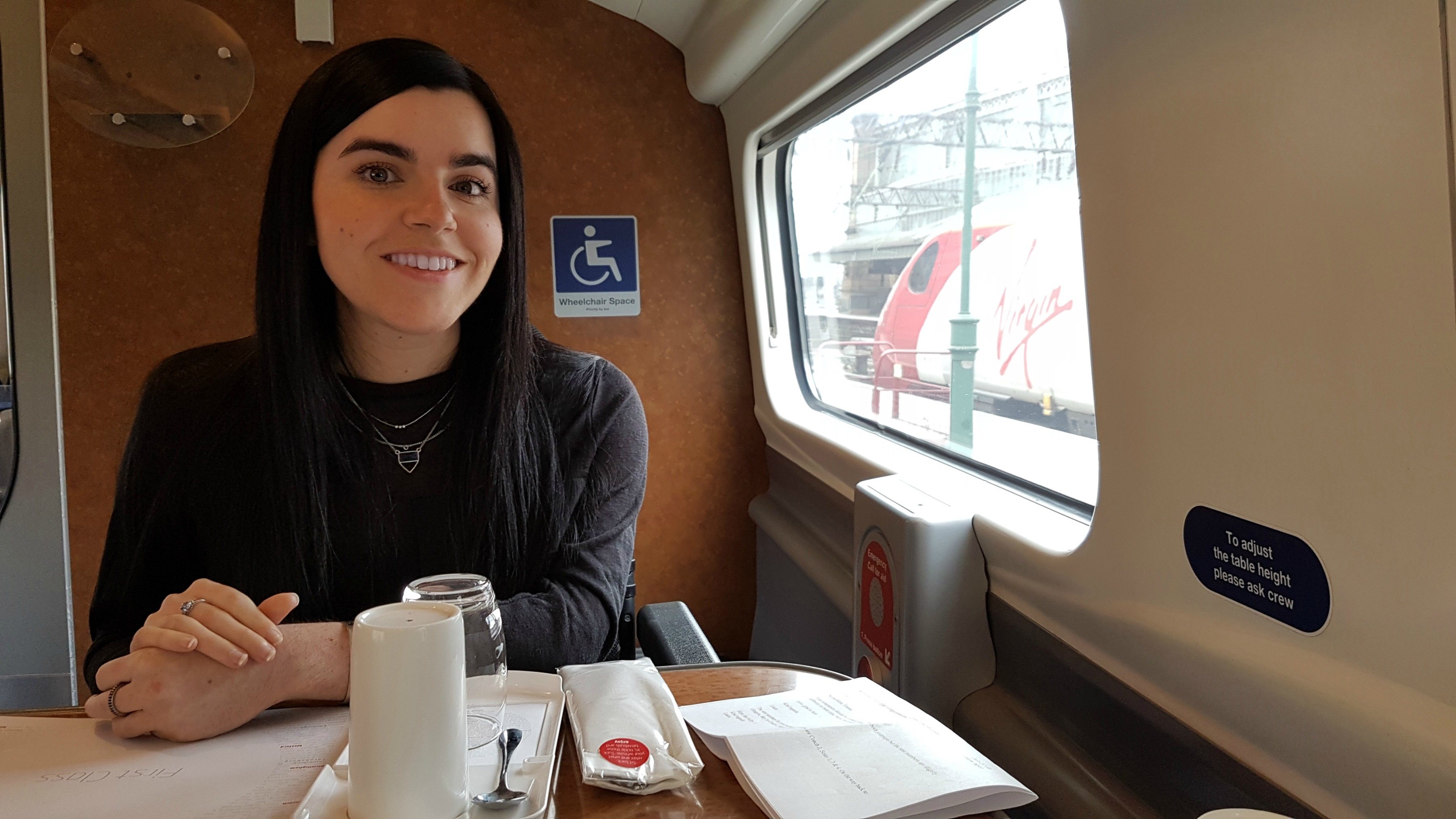 Virgin Trains first class wheelchair accessible seat onboard