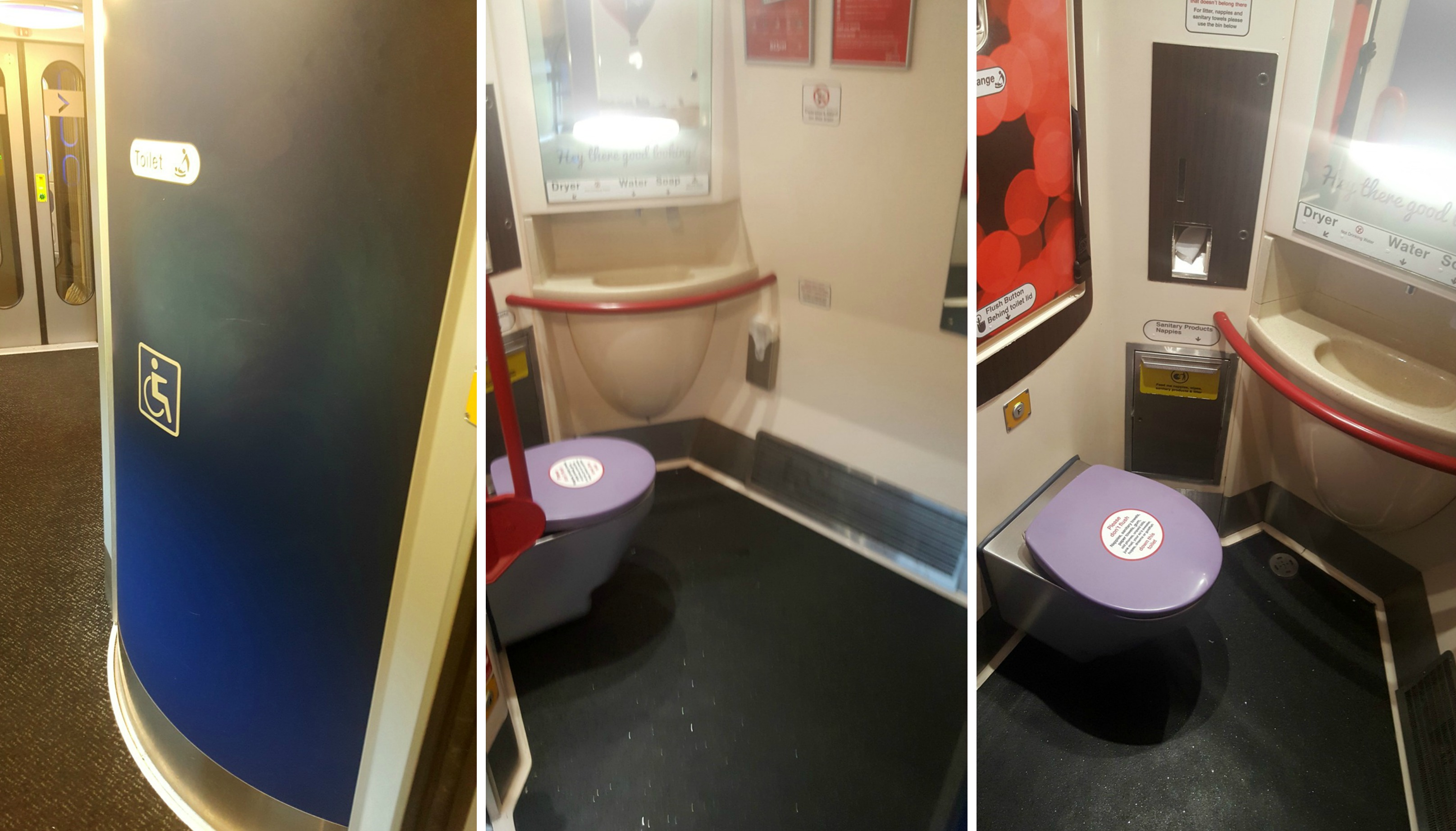 Virgin Trains first class wheelchair accessible toilet
