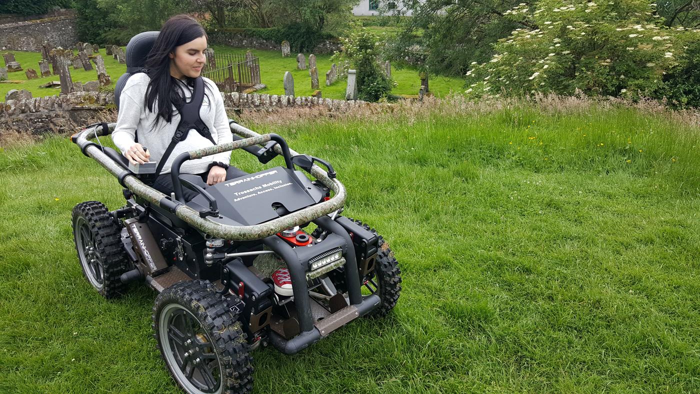 simply emma driving all-terrain-wheelchair callander