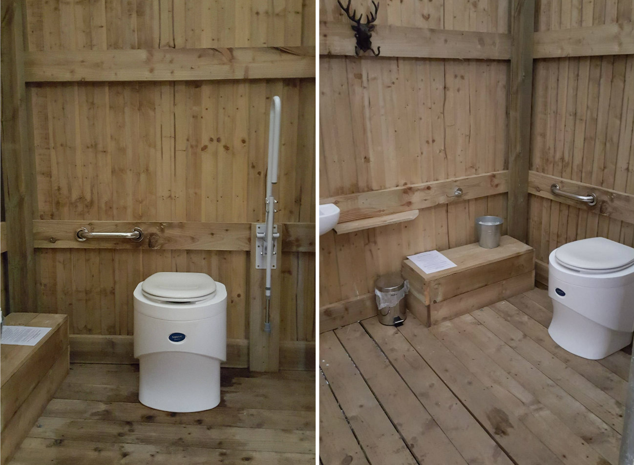 Glampotel Dundas Castle wheelchair accessible canvas cottage tent ensuite bathroom eco toilet
