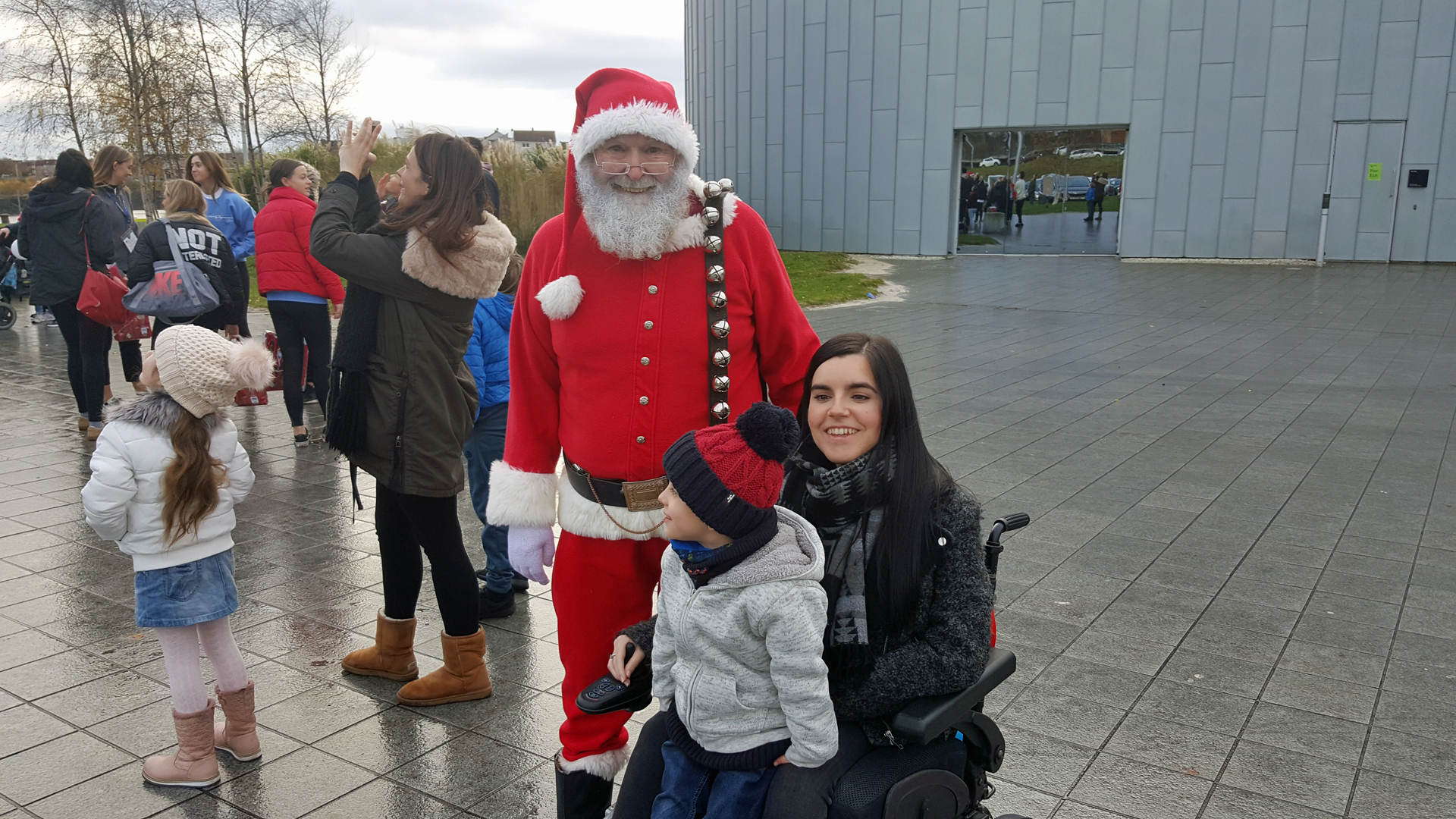 Emma and her nephew meet Santa Claus at Riverside Museum in Glasgow