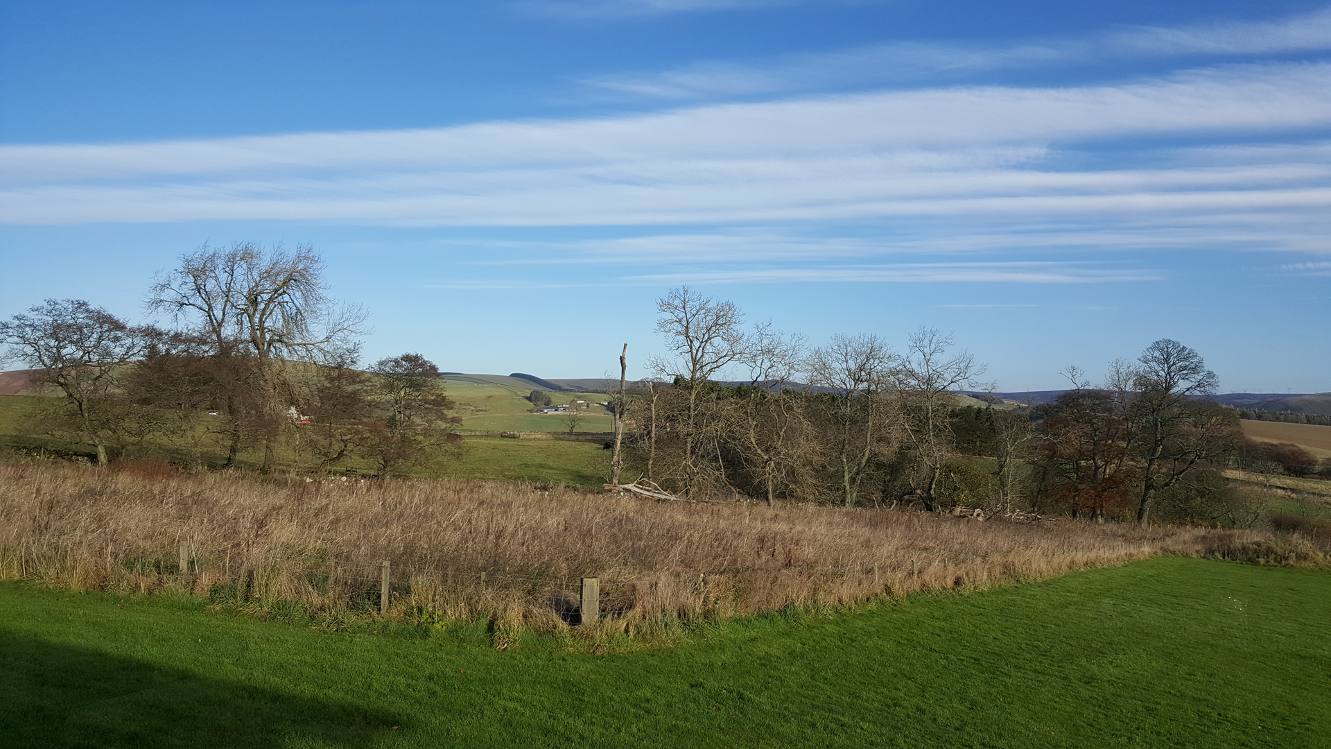 View from Airhouses Luxury Self Catering Lodges in Scottish Borders