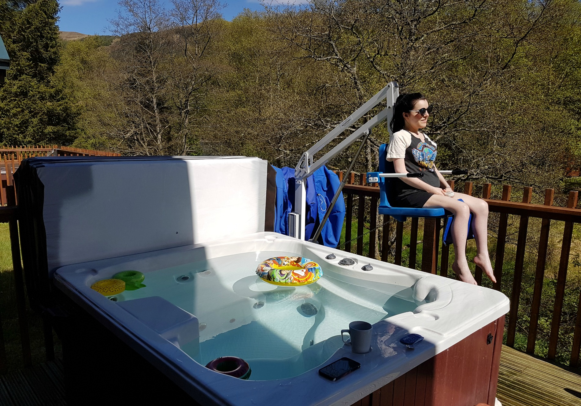Forest Holidays Strathyre Accessible Silver Birch Cabin with hot tub hoist: My Top 5 Best Travel Moments of 2017