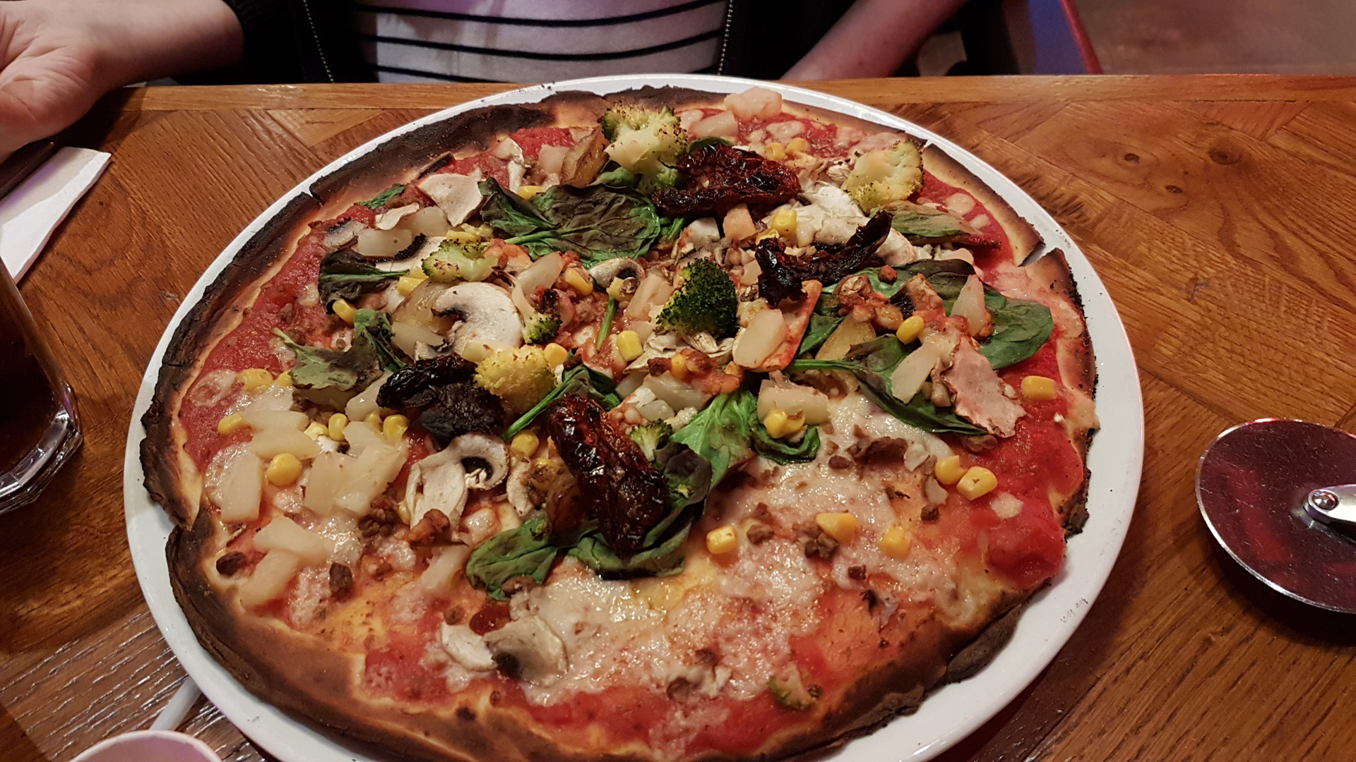 Vegan pizza from Pizza Punks Glasgow