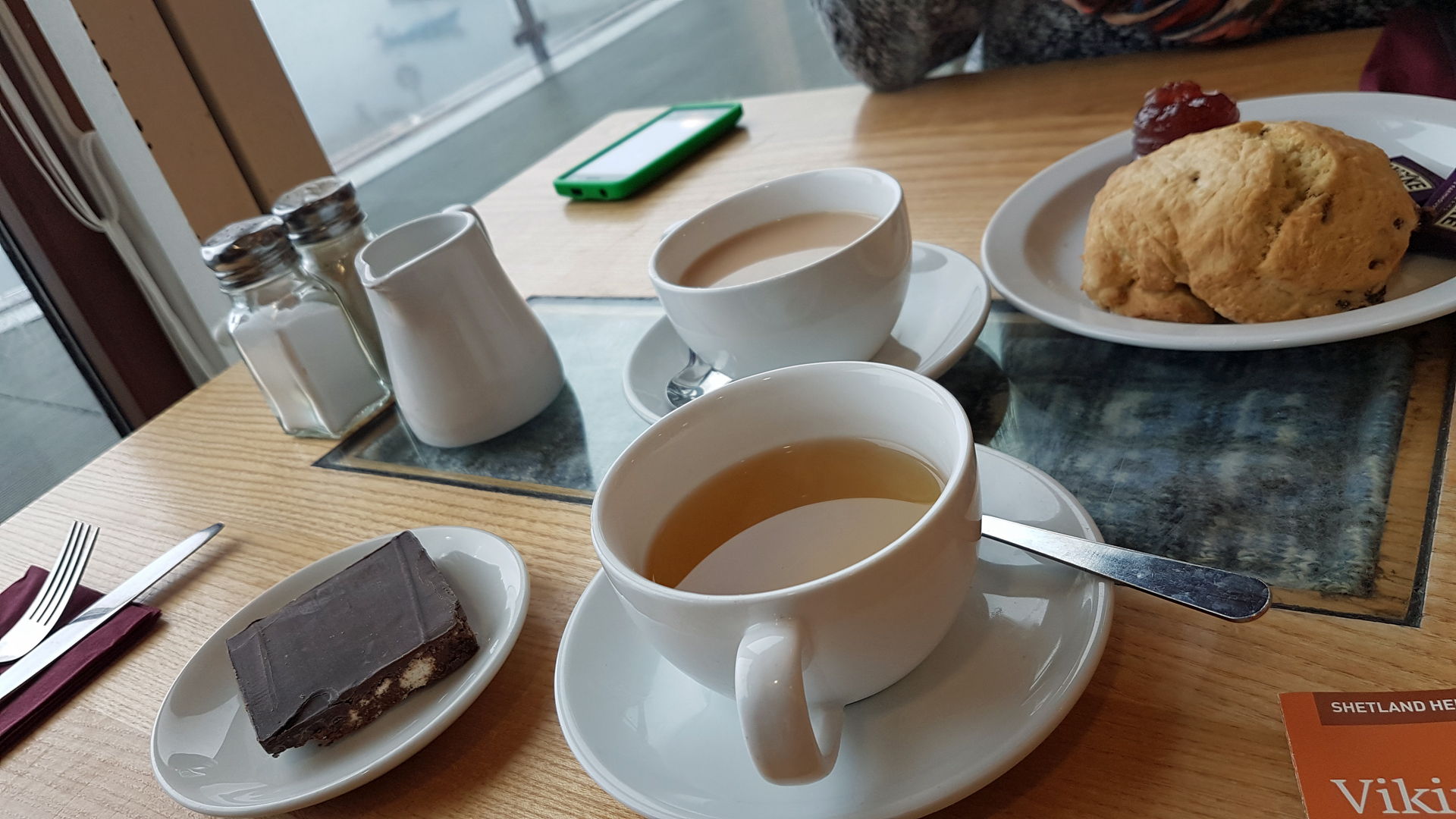 Tea and cakes at Hay's Dock Café Restaurant located in Shetland Museum and Archives