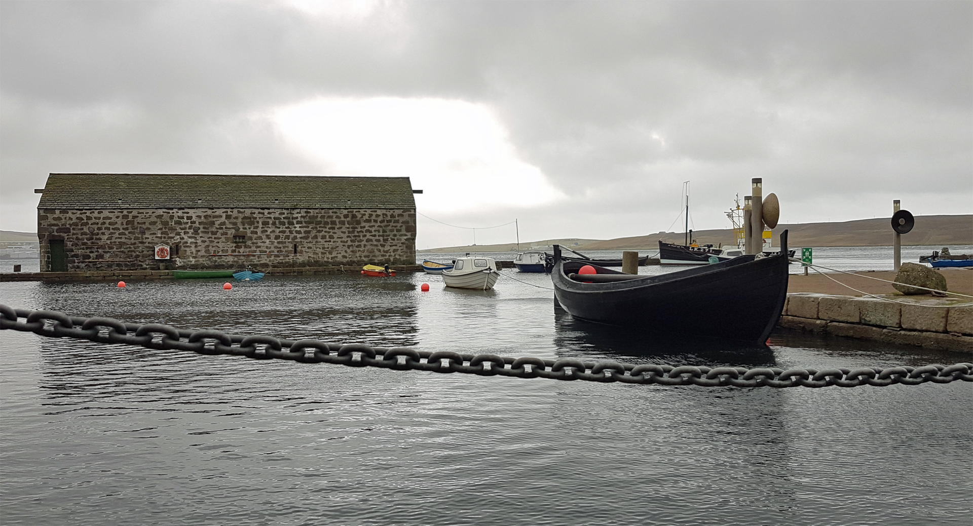 The waterfront outside Shetland Museum and Archives
