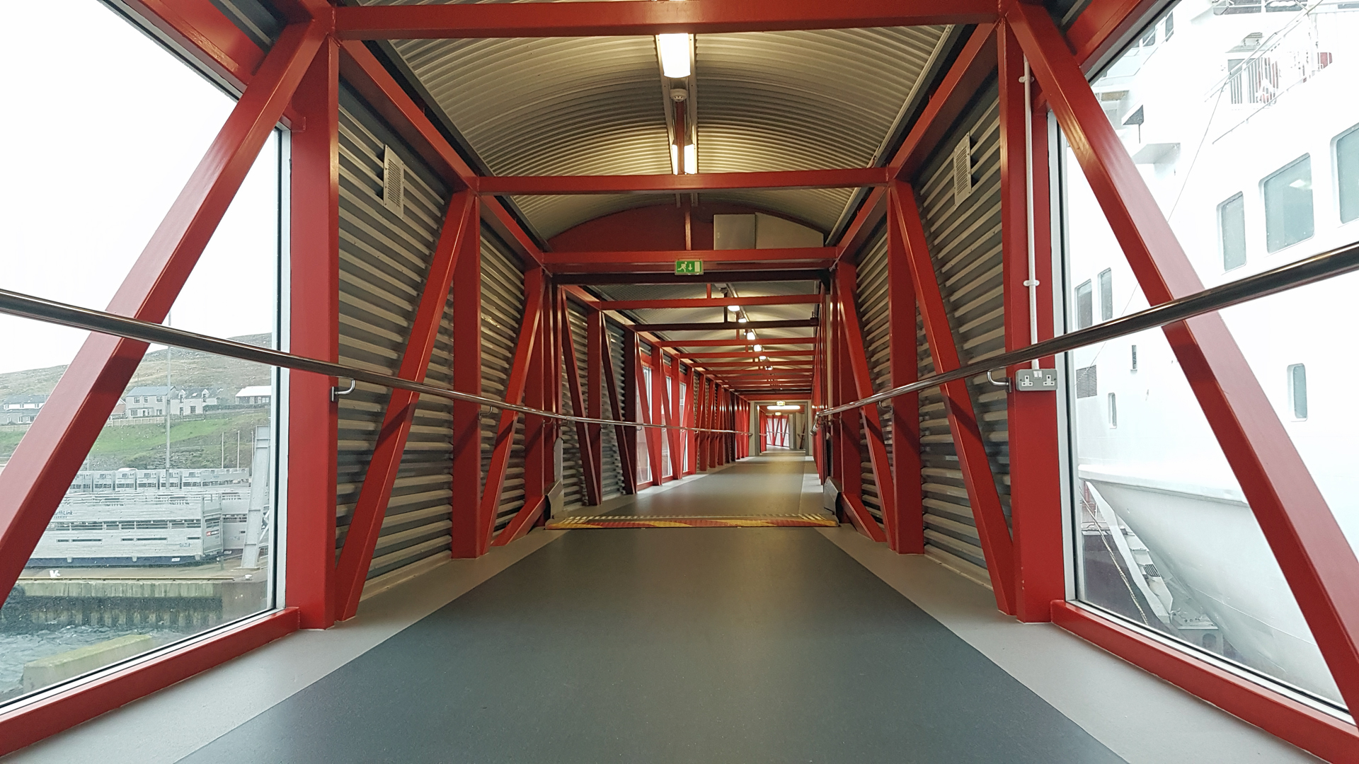 NorthLink Ferries Lerwick Ferry Terminal gangway.