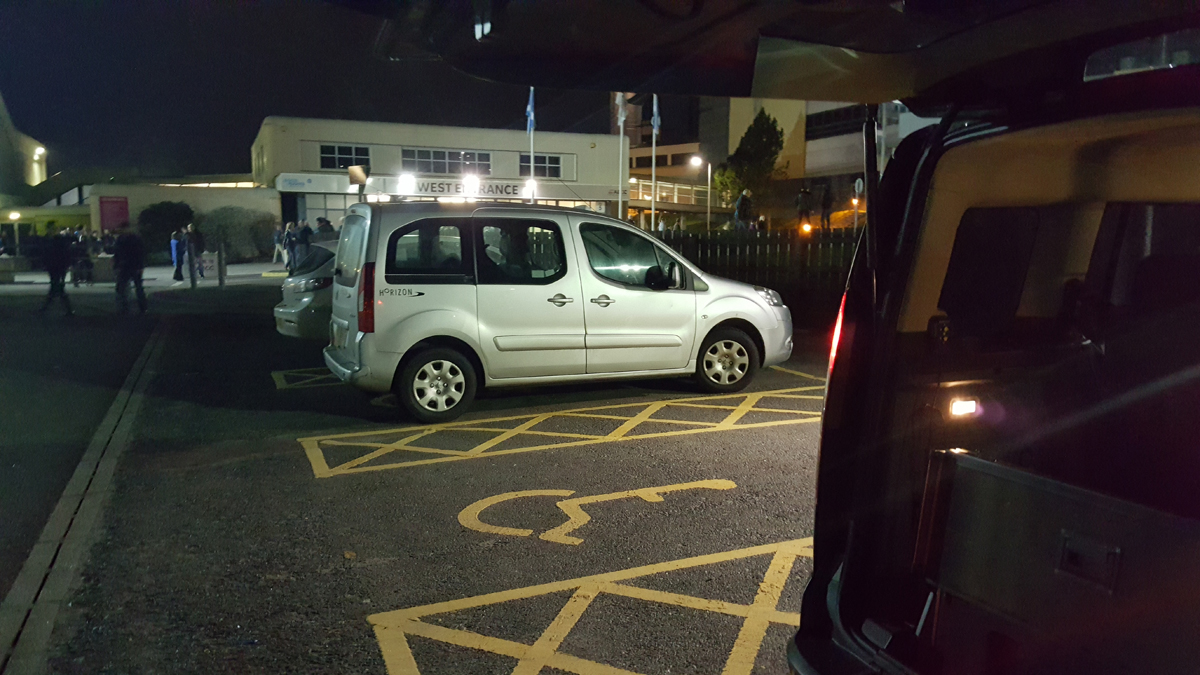 AECC Aberdeen Wheelchair Accessible disabled blue badge parking
