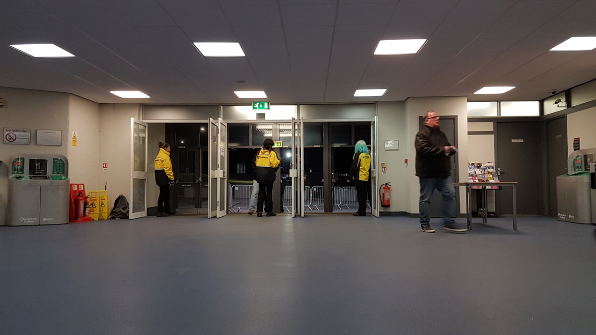 AECC Aberdeen wheelchair access in venue