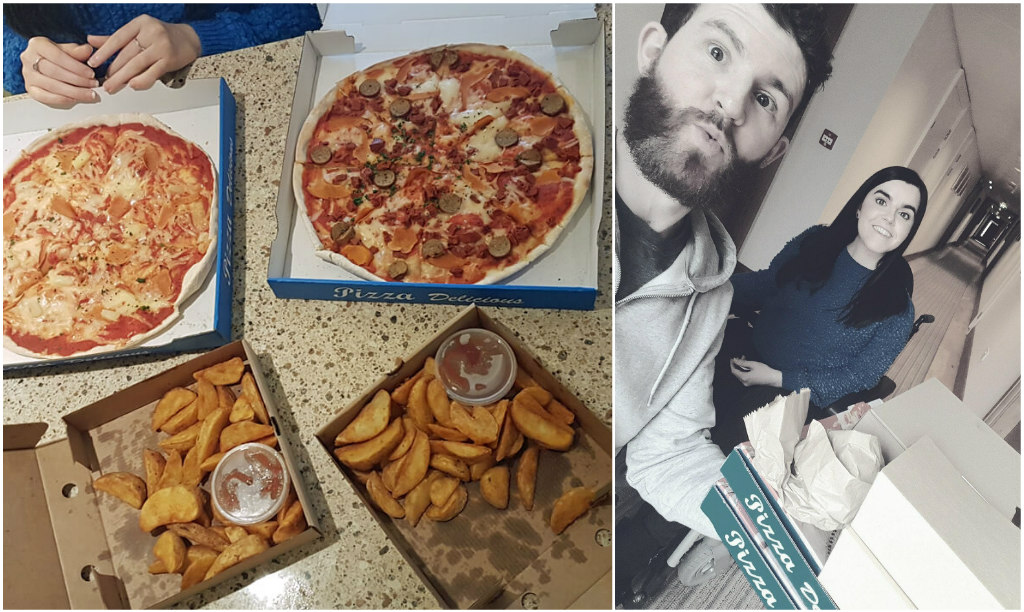 Staybridge Suites Newcastle Wheelchair access review - vegan pizza from boho vegan pizza co